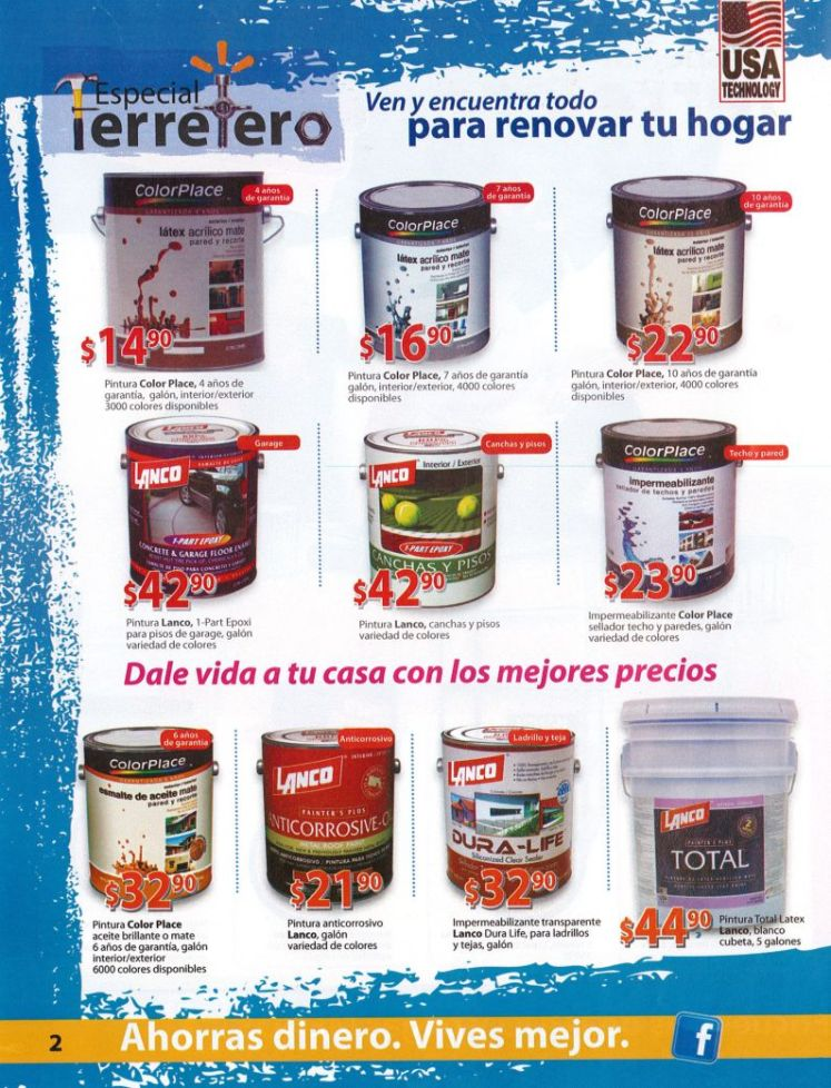 walmart Ofertas en galones de pintura COLOR PLACE usa technology
