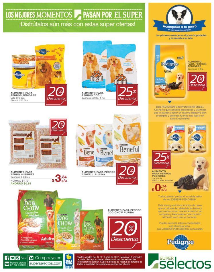 Descuento en comida para perros PEDIGREE - 17abr15