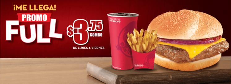 me llega PROMO FULL Burger combo WENDYS  el salvador