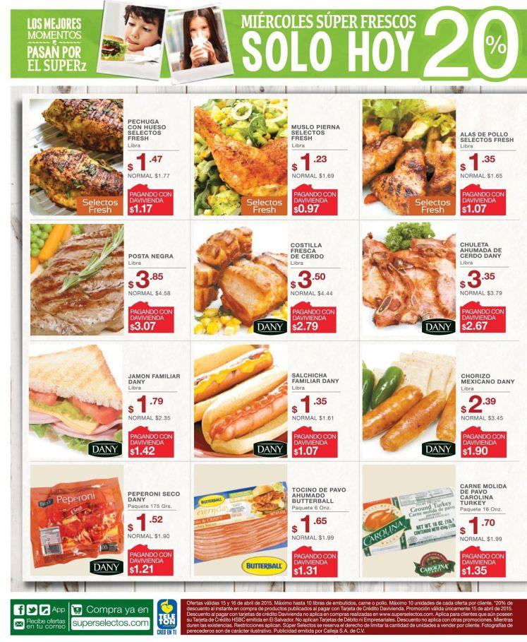 ofertas del dia en super selectos sv - 15abr15