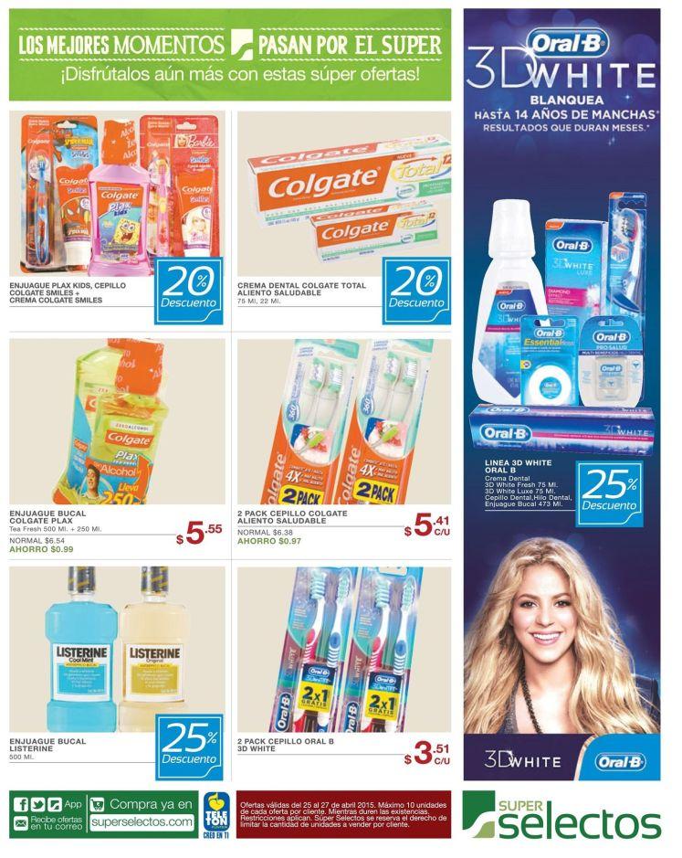 super selectos Descuentos en productos de higine y cuidado personal - 25abr15