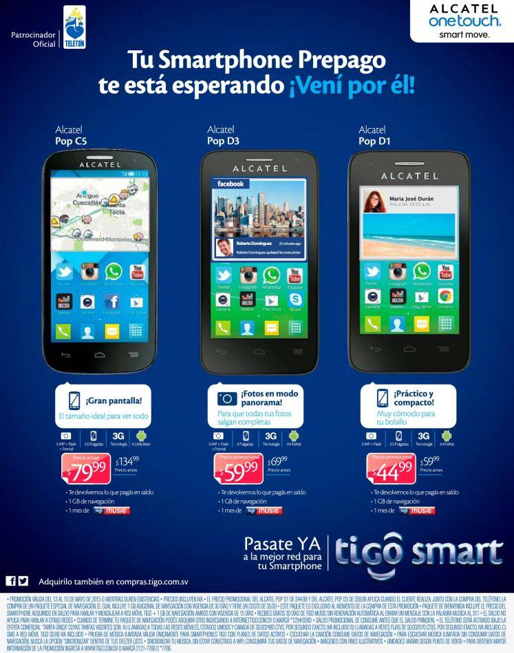 Compra tu smartphone nuevo ALCATEL POP - 13may15