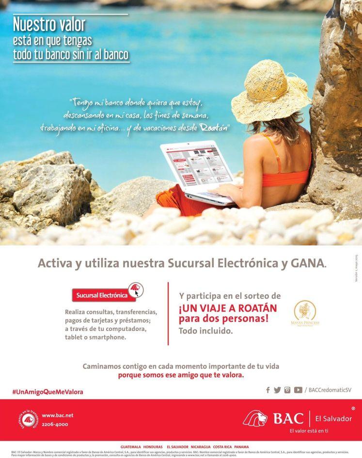 Electronic bank app BAC elsalvador