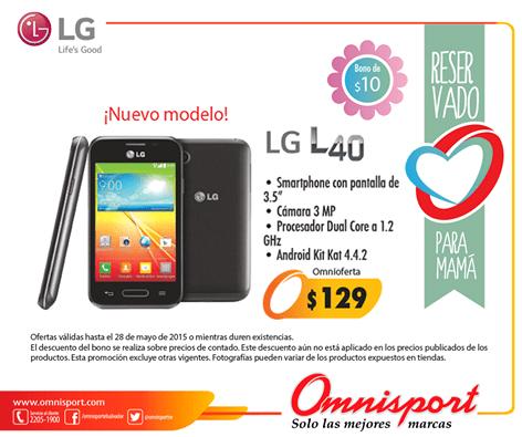 Este mes de mayo SMARTPHONE LG L40 en oferta 129 dolares