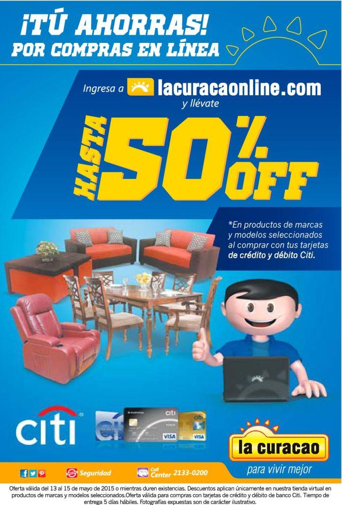 HOY compras online con 50 OFF en la curacao - 13may15