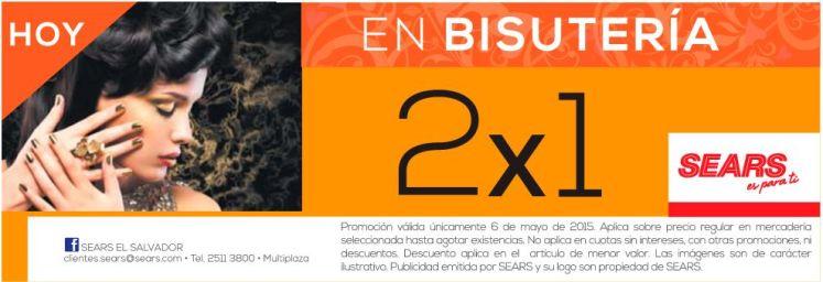 HOY promocion 2x1 en BISUTERIA - 06may15