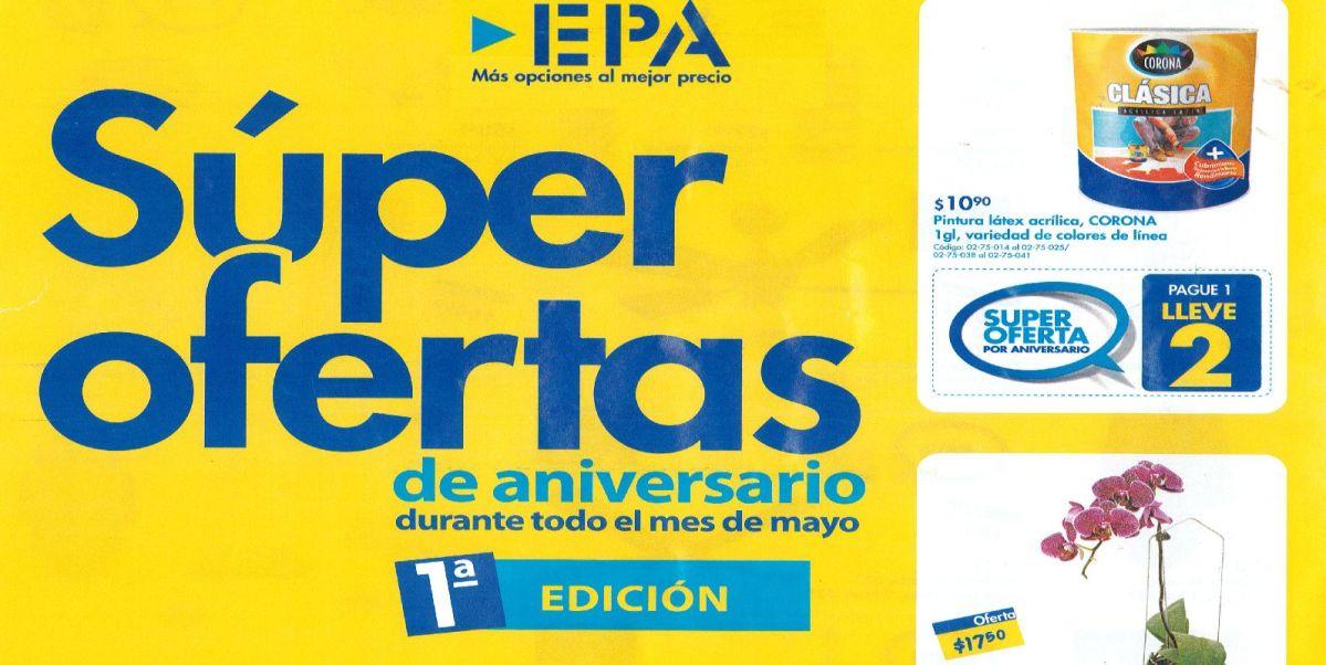 Super Ofertas de Aniversario EPA #elsavador (Mayo 2015)