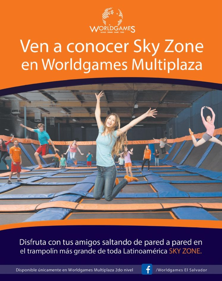 SKY ZONE multiplaza WORLDGAMES new entertaiment GAME for family
