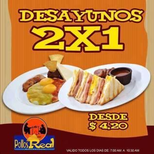 desayunos 2x1 Promocion POllo Real el salvador