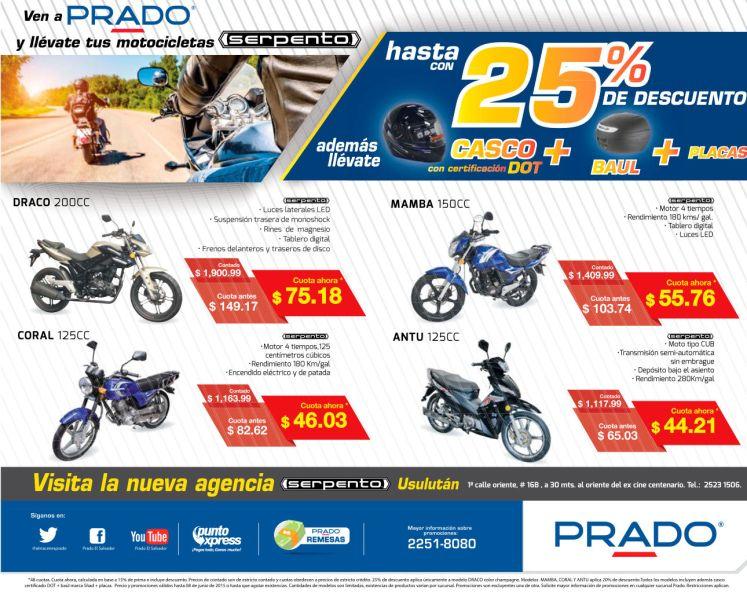 PRADO Siempre con los mejores precios en MOTOS SERPENTO - 05jun15