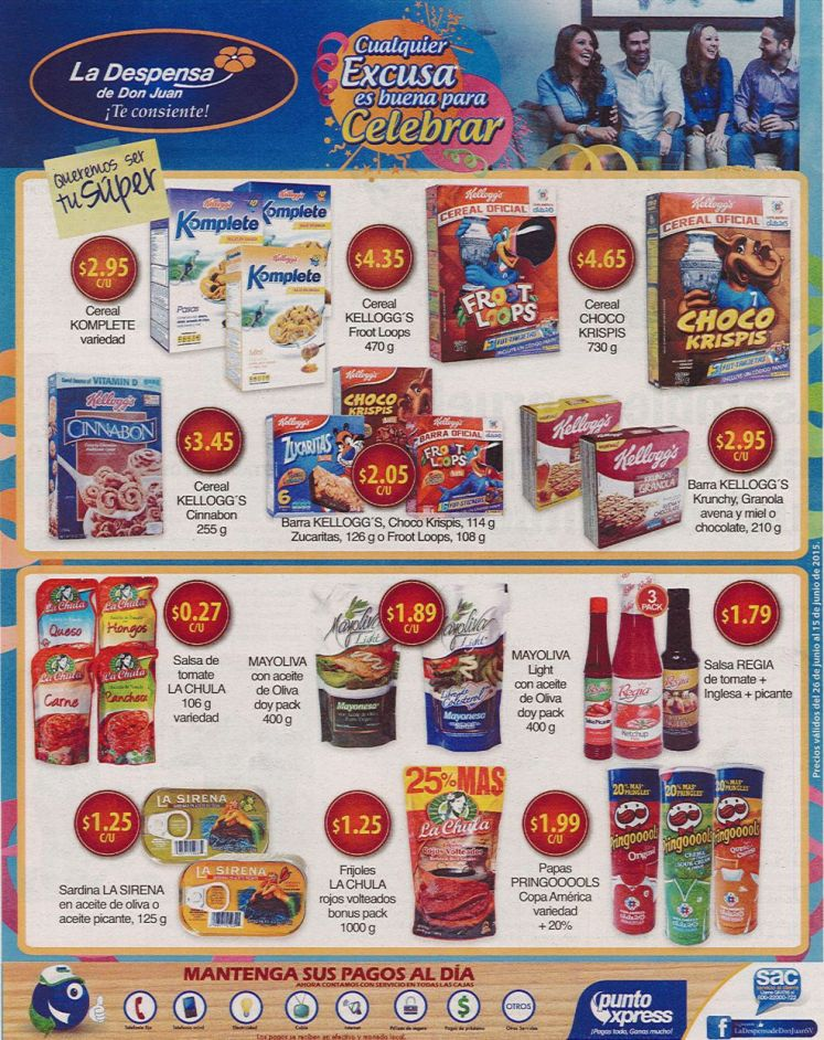 Supermercado la despensa de don JUAN ofertas para celebrar - 26jun15
