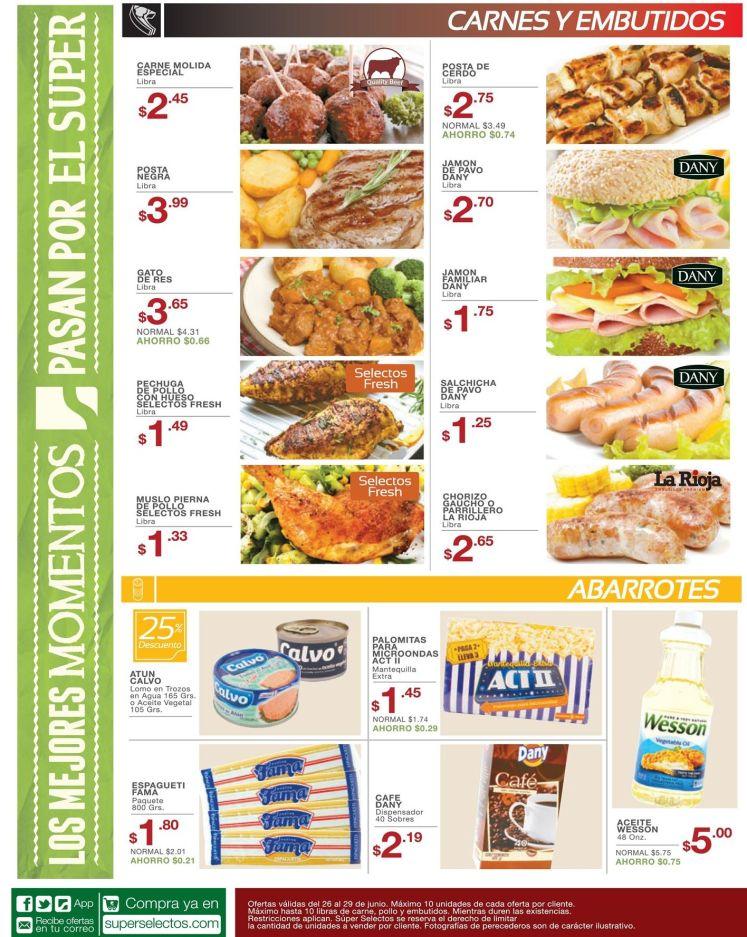 carnes pollo embutidos cerdo SELECTOS ofertas- 26jun15