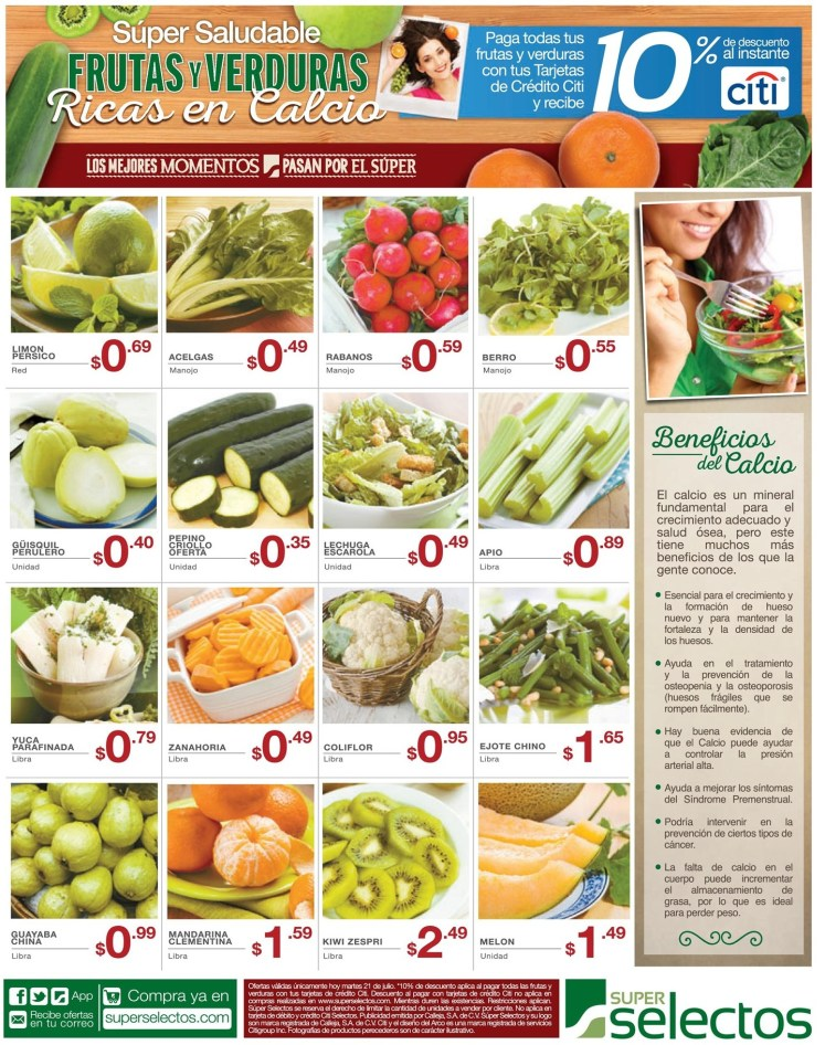 Beneficios del calcio en tu dieta FRUTAS Y VERDURAS con calcio