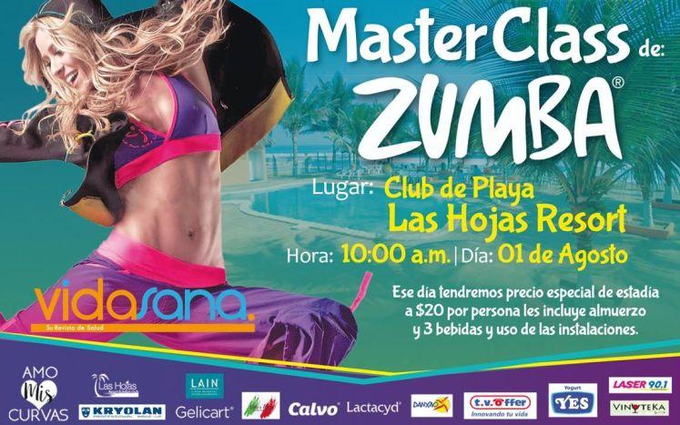 Master CLASS ZUMBA beach edition LAS HOJAS RESORT