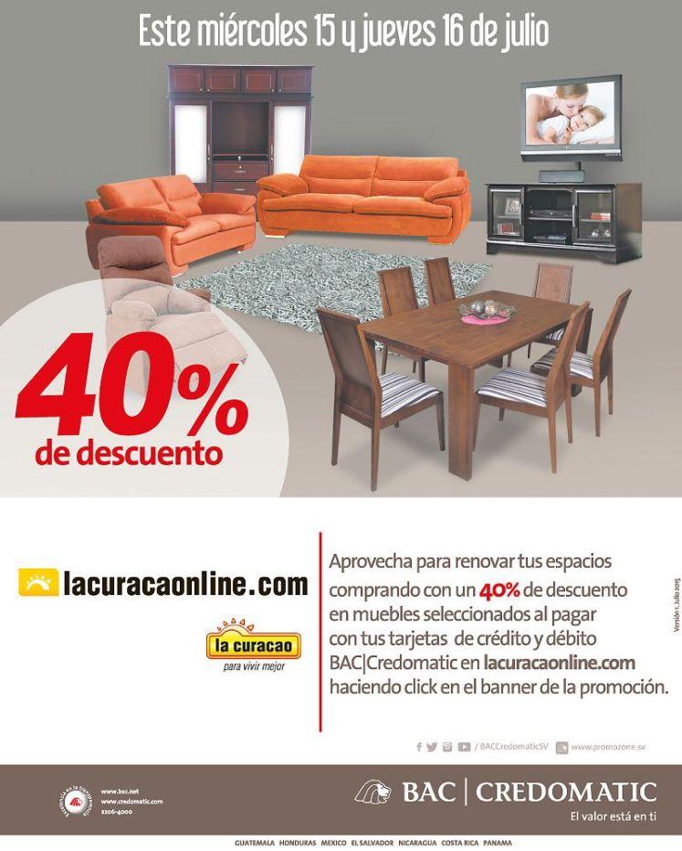 Muebles con 40 oFF de descuento en LACURACAONLINE.com - 16jul15