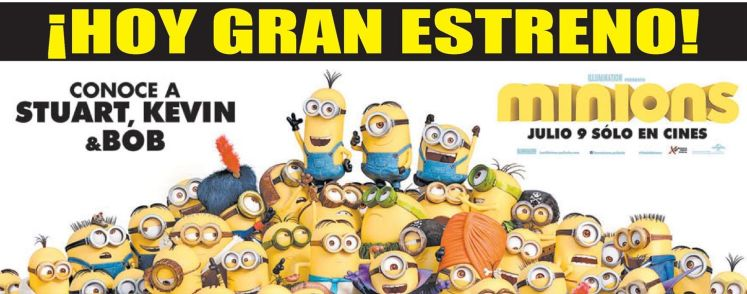 TODAY premier MINIONS the movie 2015 stuart kevin bob