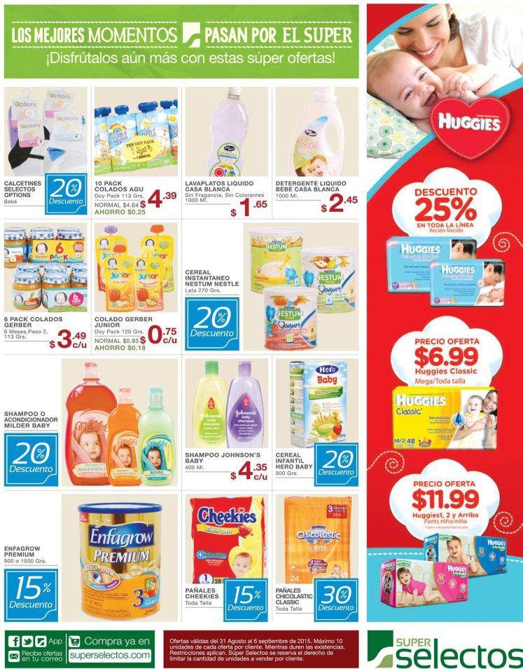 Ahora tu bebe tiene que ir de compras al SUPER SELECTOS baby promotions