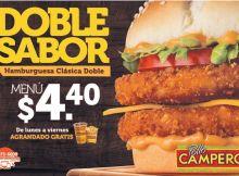 DOBLE SABOR hamburguesa clasica de pollo campero promociones