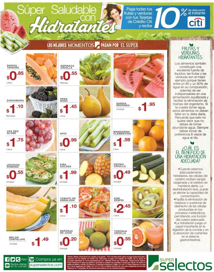 Frutas y Verduras que hidratan tu cuerpo conoce mas benefcios