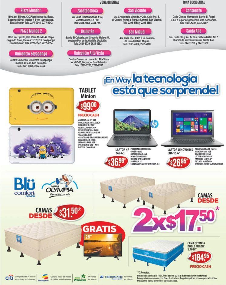 TABLETS y LAPTOPS deals en agencias way buenos precios - 14ago15