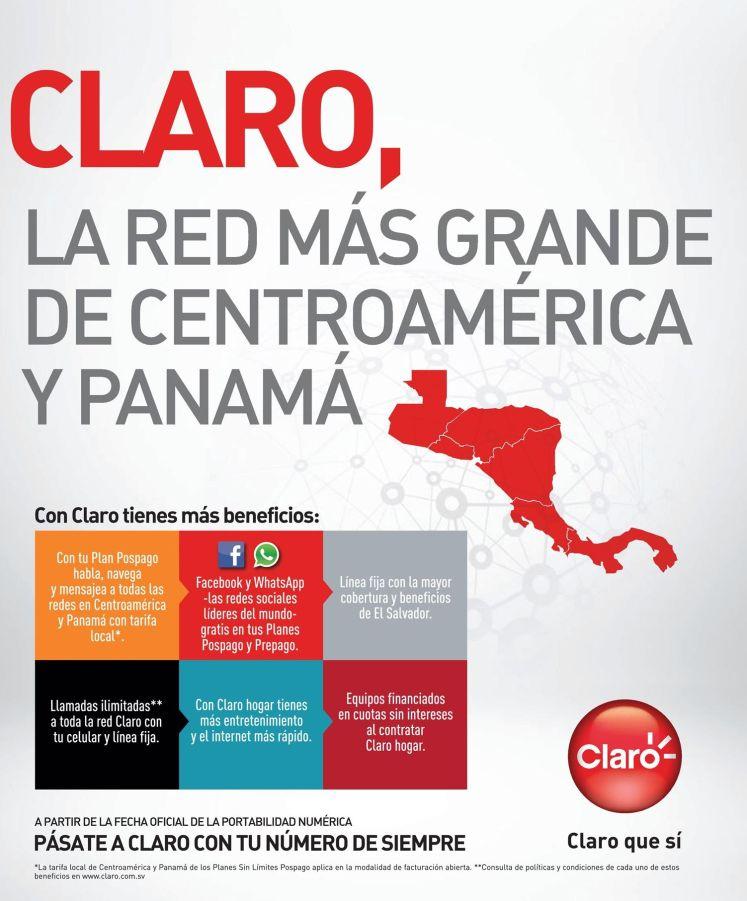 Telefonia CLARO la red mas grande de centroamerica y panama