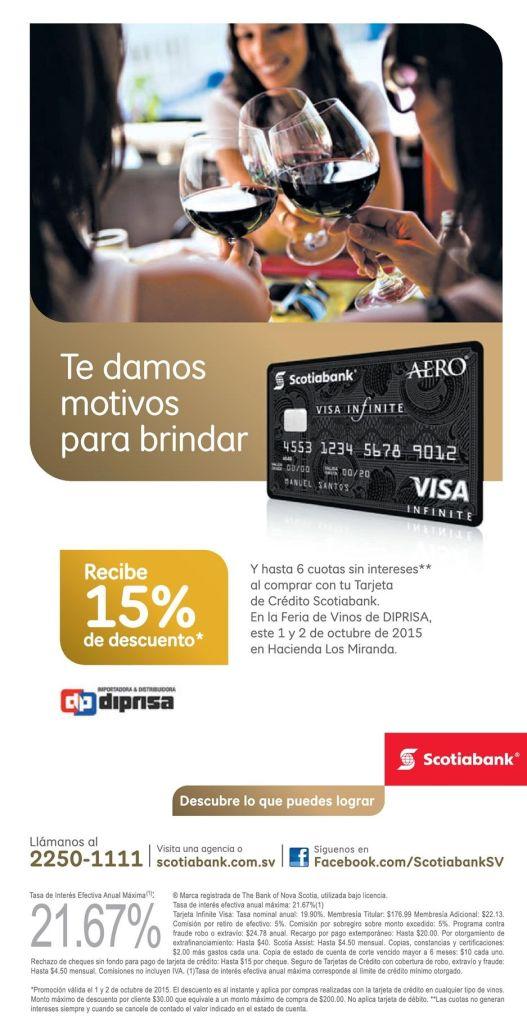 DIPRISA descuento con tarjetas SCOTIABANK