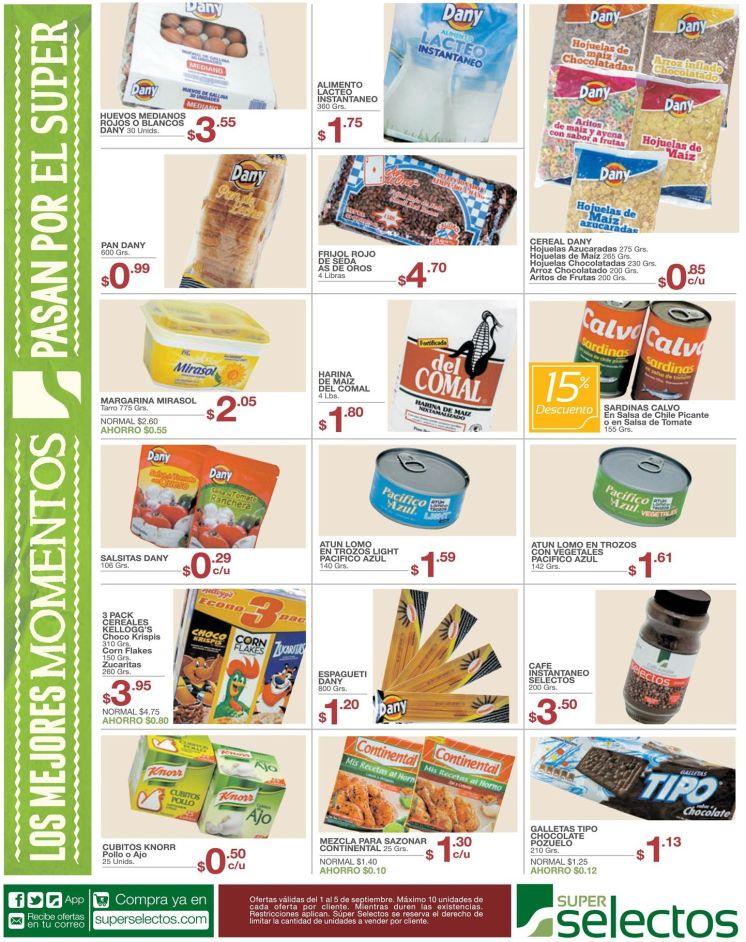 Super seelctos tiene Productos de canasta basica en oferta - 01sep15