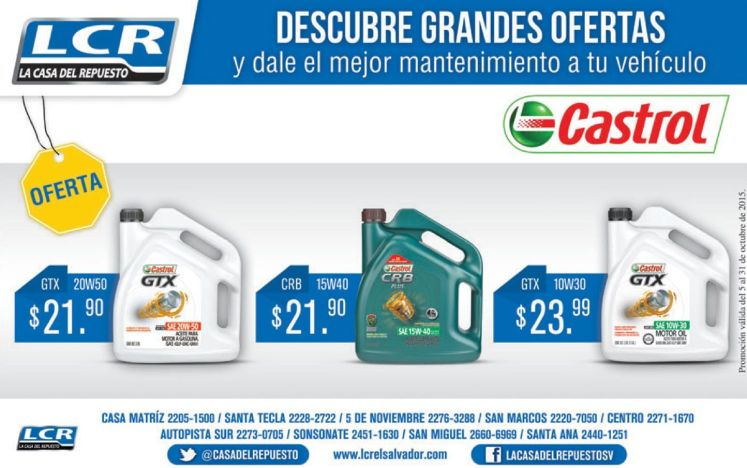 AUTO con aceite castro promociones en lubricantes