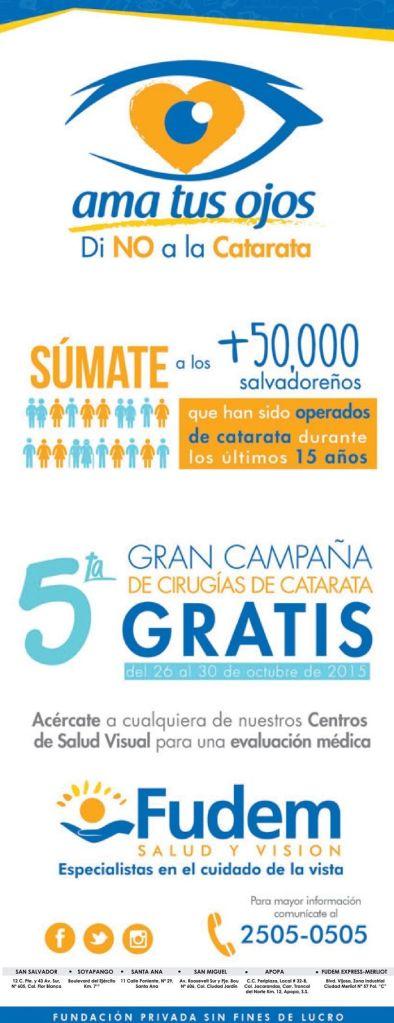 CAMPAING cirujias de cataratas GRATIS gracias a FUDEM