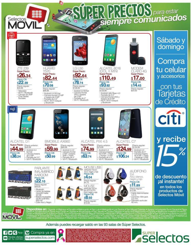 CITI te da 15 off en celulares y moviles este fin de semana