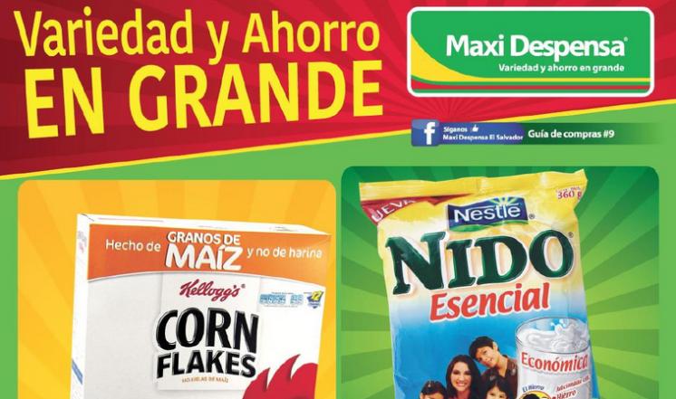 Guia de compras no9 de maxi despensa el salvador 2015