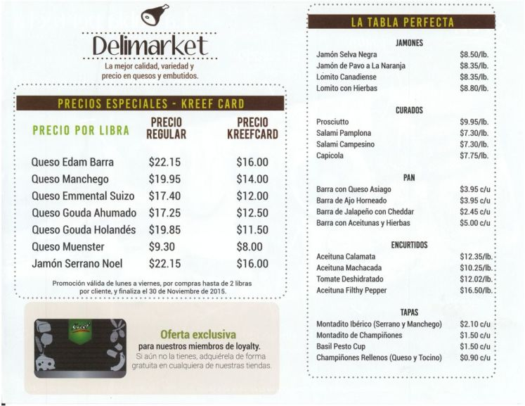 Ofertas Exclusiva DELIMARKET kreef el salvador