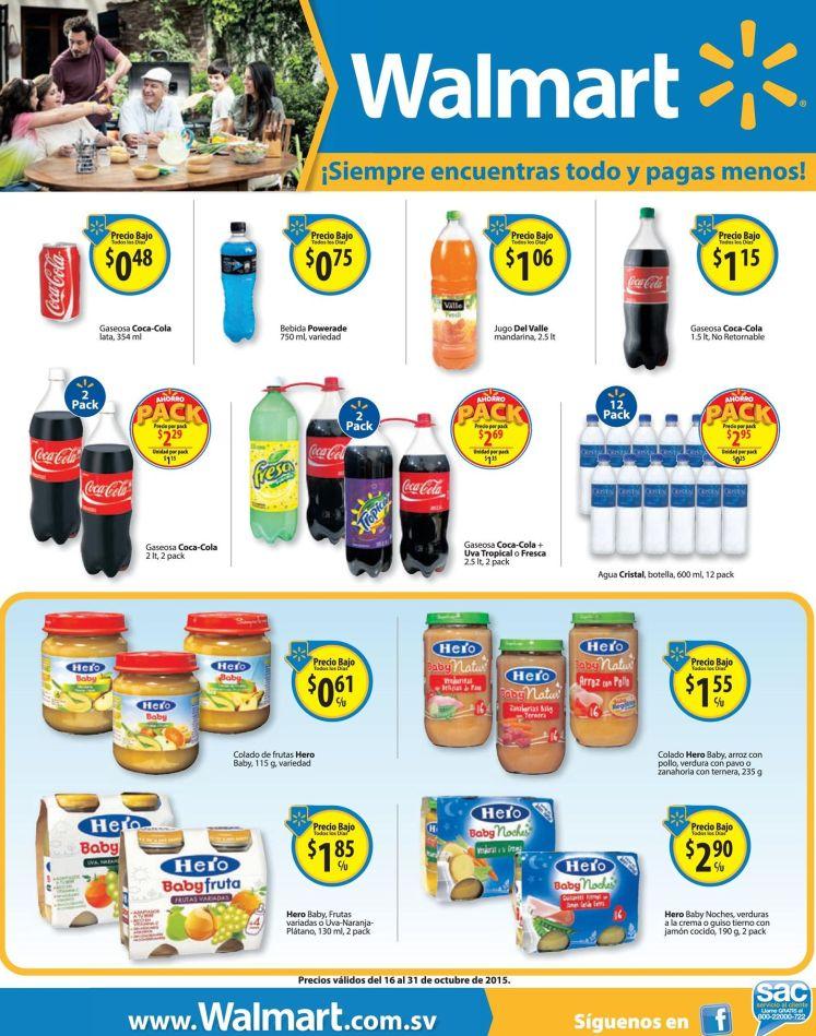 PROMOS en Bebidas Jugos Gaseosas Colados de frutas via WALMART