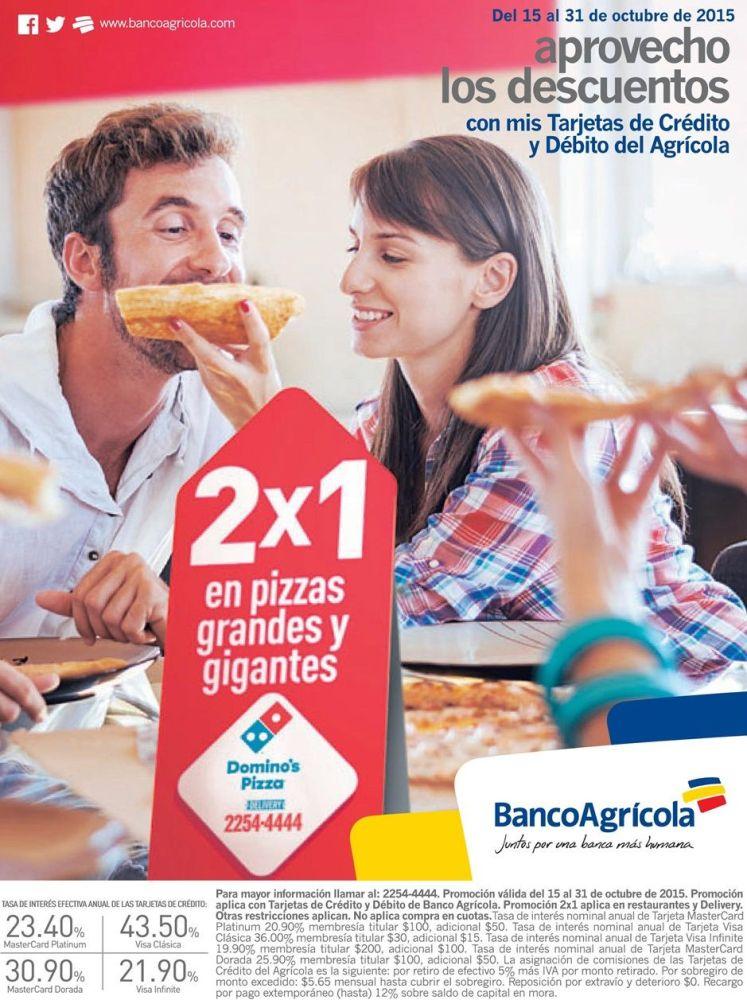 Promocion pa comer PIZZA al 2x1 de dominos
