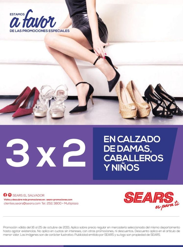 SHOES for her promotion 3x2 by SEARS