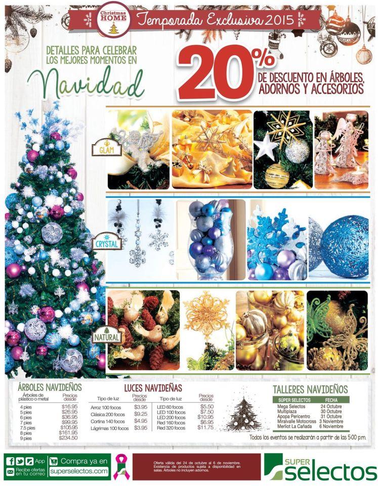Temporada exclusiva 2015 de productos de navidad SUPER SELECTOS