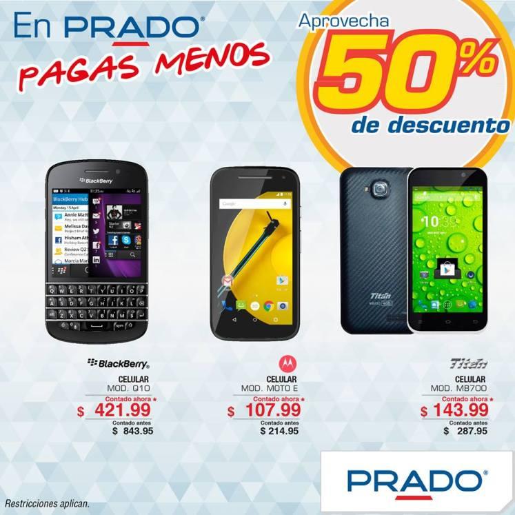 paga menos mira celulares con 50 off en PRADO