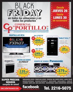 Super precios negros en COMERCIAL PORTILLO de santa tecla