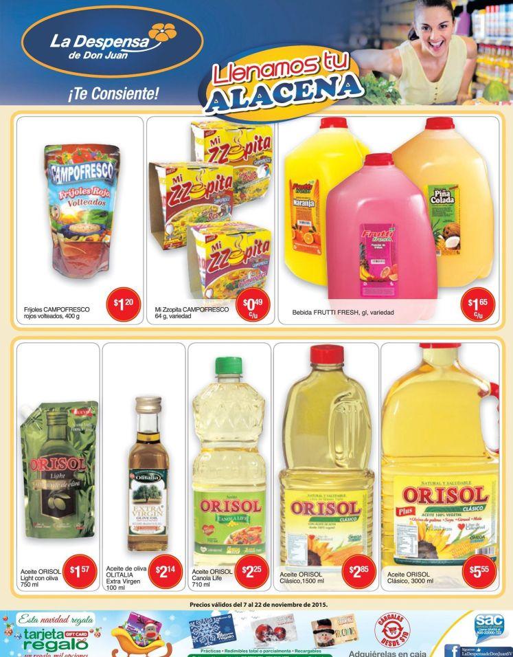 jugos aceite aceitunas TODO para tu casa Despensa - 07nov15
