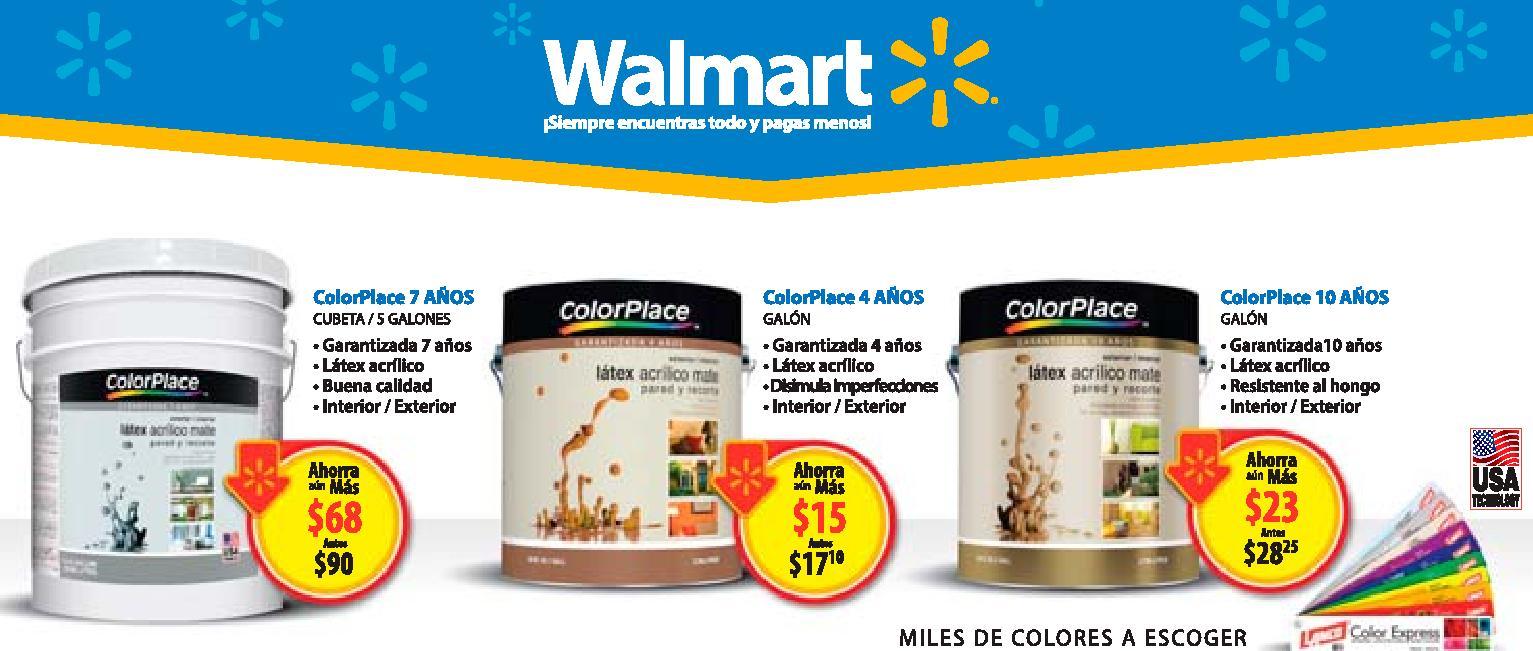 COLOR PLACE paint promociones WALMART enero 2016