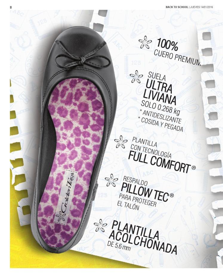 Detalles tecnicos y caracteristica zapatos GOLDEN TAG