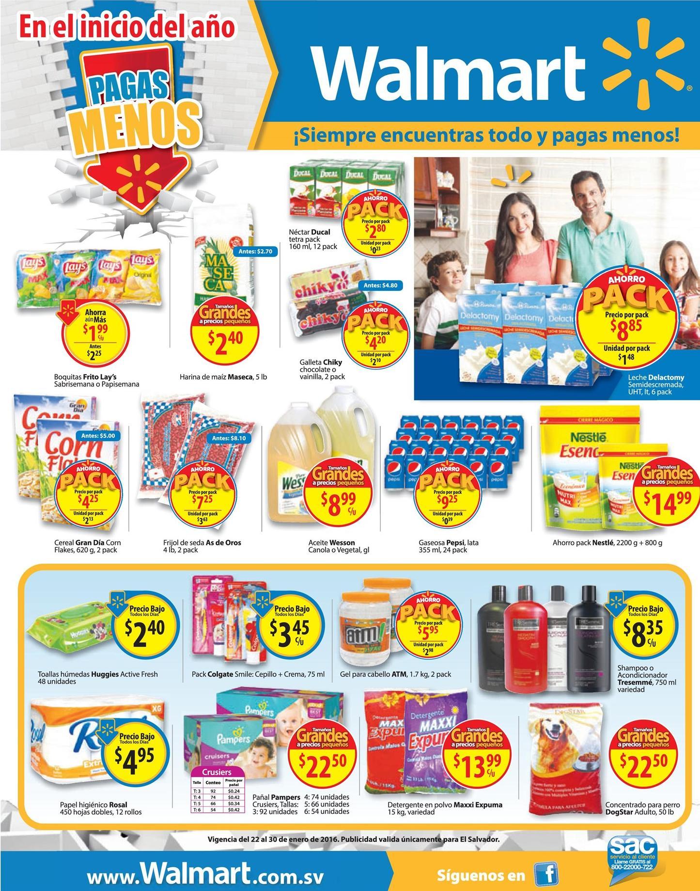 Productos basicos y de uso diario WALMART ofertas enero 2016