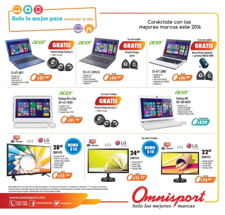 Promociones omnisport 2016 en computadoras tablets y televisores