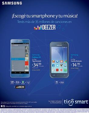 TIGO Acceso a 35 millones de canciones con DEEZER music