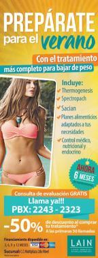 Tratamiento para bajar de peso antes del verano 2016