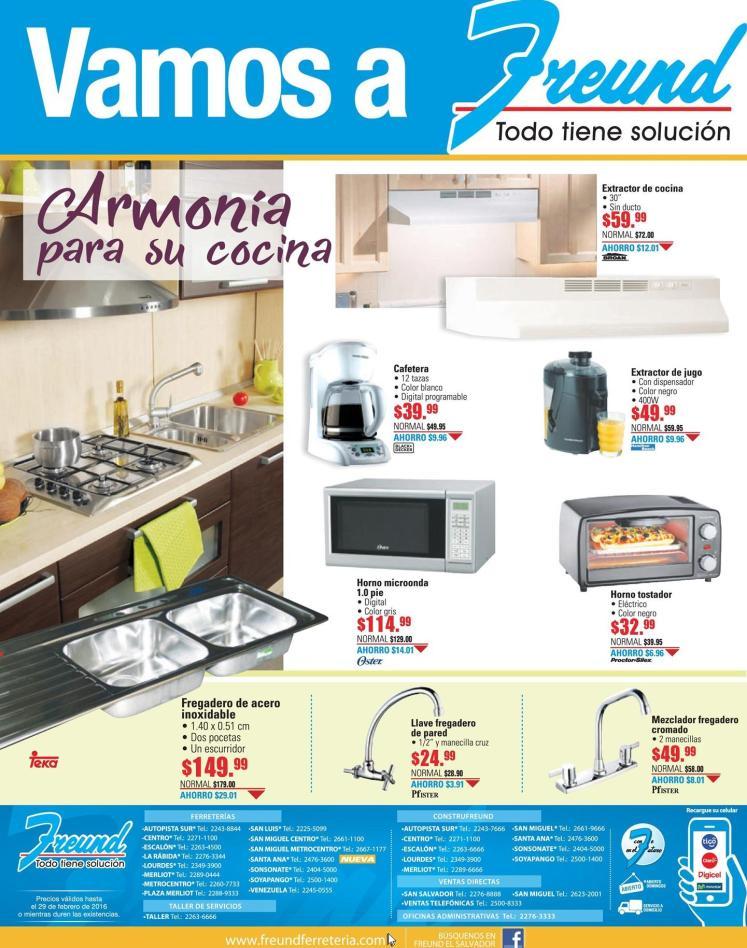 FREUND soluciones para darle Armonia decorar y remodelar tu cocina