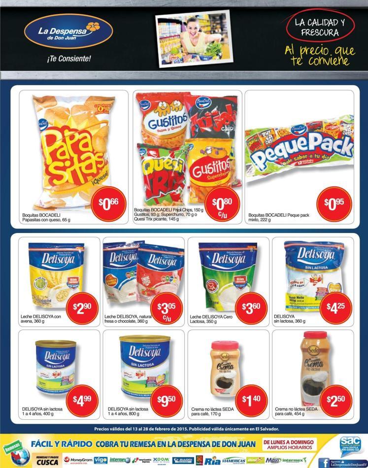 Paquetes de ofertas de la despensa de don juan - 13feb16