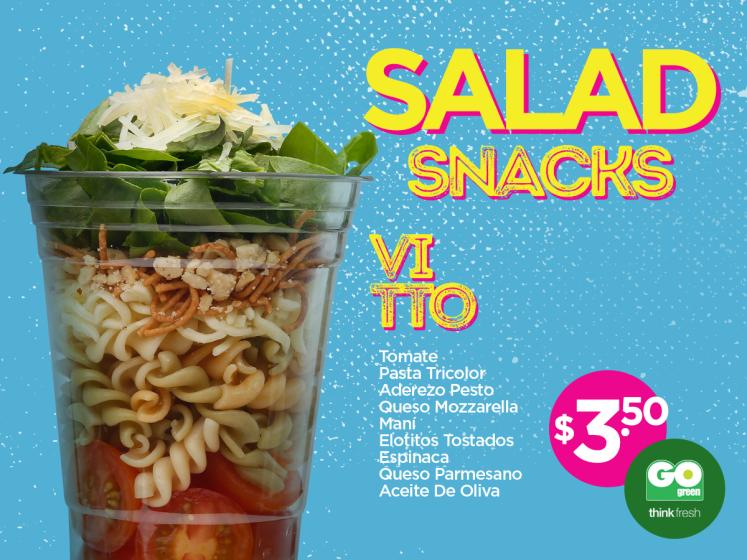 Ricos salad snack del GO GREEN por solo 3 dolares 50 ctvs