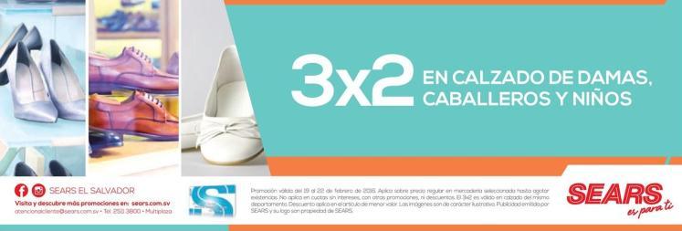 SEARS promociones 3x2 en calzado para toda la familia
