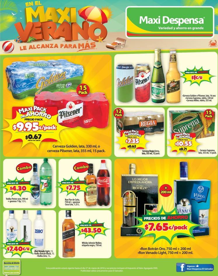 MAXI ahorro en tus bebidas de vacaciones - 19mar16